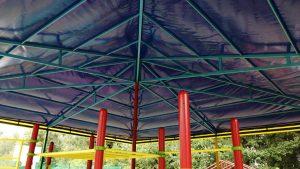 Тентовые крыши их ткани ПВХ